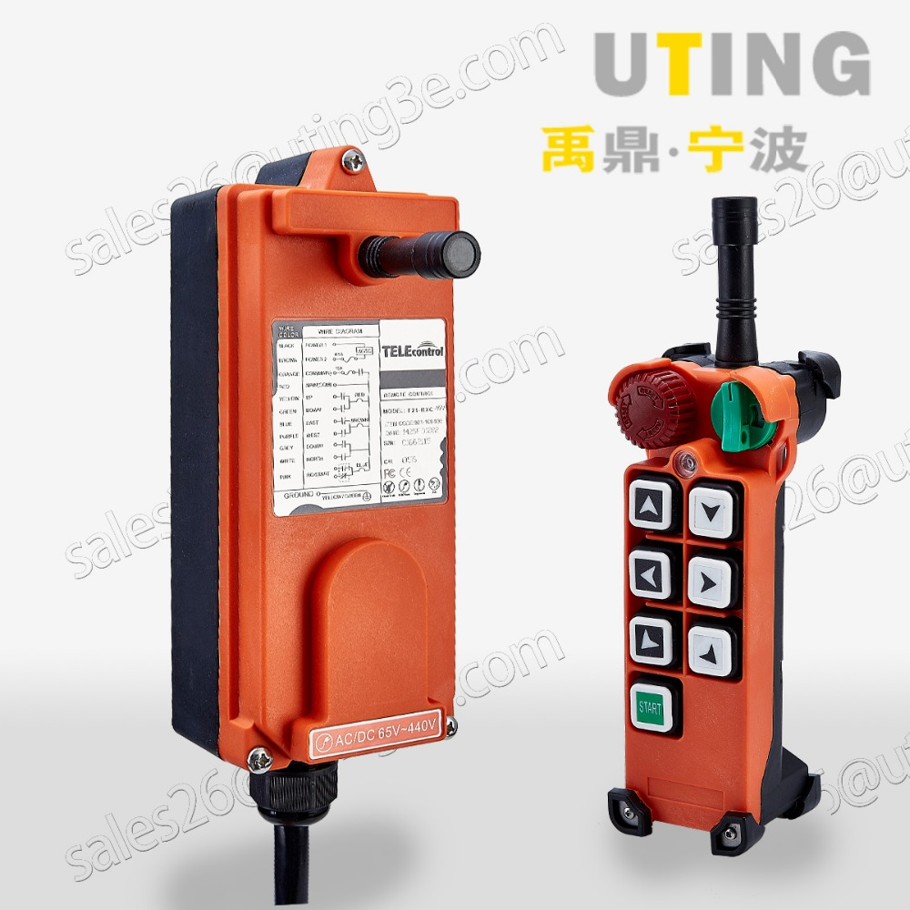 Telecontrol F21-E2 industrial radio remote control AC/DC universal wireless control for crane 1transmitter and 1receiver free shipping rf21 e1b industrial universal wireless radio remote control for overhead crane