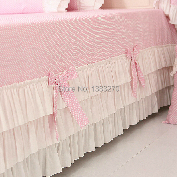 Aliexpress.com : Buy Fashion Bed Sheets Duvet Cover Manufacturers In China  Cotton Bedding Set Pink Princess Style Sweet Dot Pattern From Reliable Sheet  ...