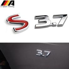 3,7 S 3D металлический автомобильный Стайлинг авто значок решетка эмблема наклейка задний багажник бампер наклейка для Infiniti Q50 Q50L G37 G25 QX70 FX35 FX37