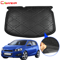 Cawanerl Car Rear Trunk Mat Floor Luggage Boot Tray Liner Cargo Carpet Mud Kick Pad For Chevrolet Aveo T300 Hatchback 2011 2015