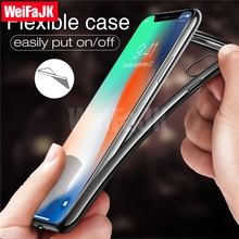 Фотография Phone Cases for iPhone X 6 6s 7 8 Plus Case , Luxury Ultra Thin Transparent Crystal Silicon Clear Soft Case for iPhone X Cover