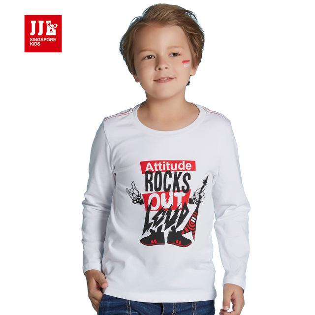 Meninos de manga longa camisetas impressão moda tshirts crianças assentamento camisas crianças roupas de inverno 2016 outono nova qualidade chegada