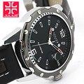 Moda Top marca de Luxo JULIUS Relógios homens Calendário Cavalheiro Couro Strap relógio de Pulso De Quartzo-relógio Senhoras Vestido Ocasional Masculino