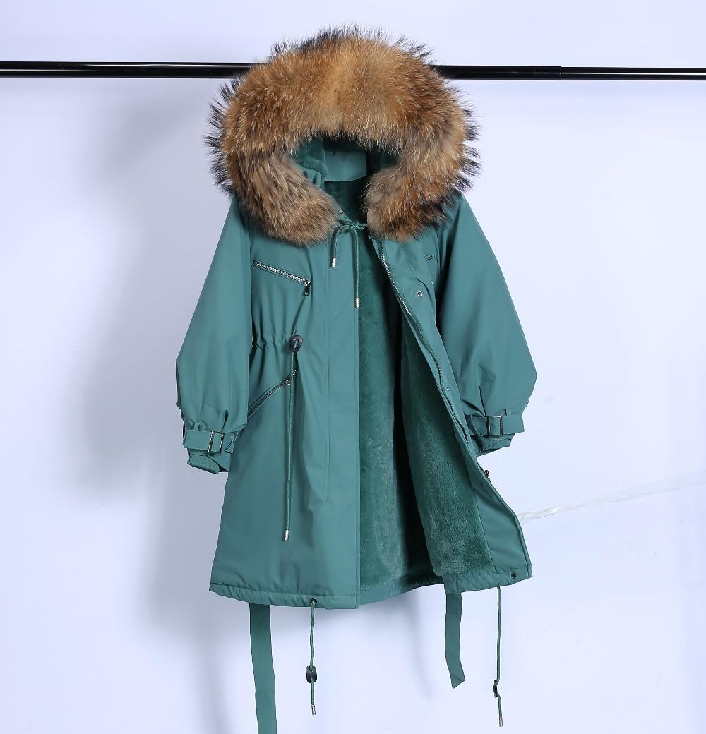 Large Natural Raccoon Fur Winter Jacket Women Hooded 19 Long Parkas For Female Thick Slim Down Winter Coat Women Waterproof 28