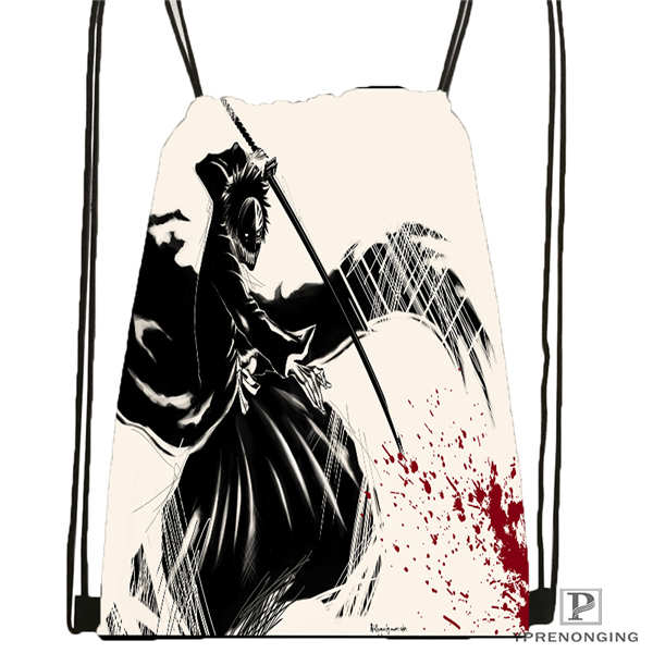 Custom bleach ichigo cool anime Drawstring Backpack Bag Cute Daypack Kids Satchel Black Back 31x40cm 180611