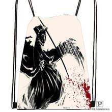 Custom bleach_ichigo_cool_anime_ Drawstring Backpack Bag Cute Daypack Kids Satchel (Black Back) 31x40cm#180611-01-47