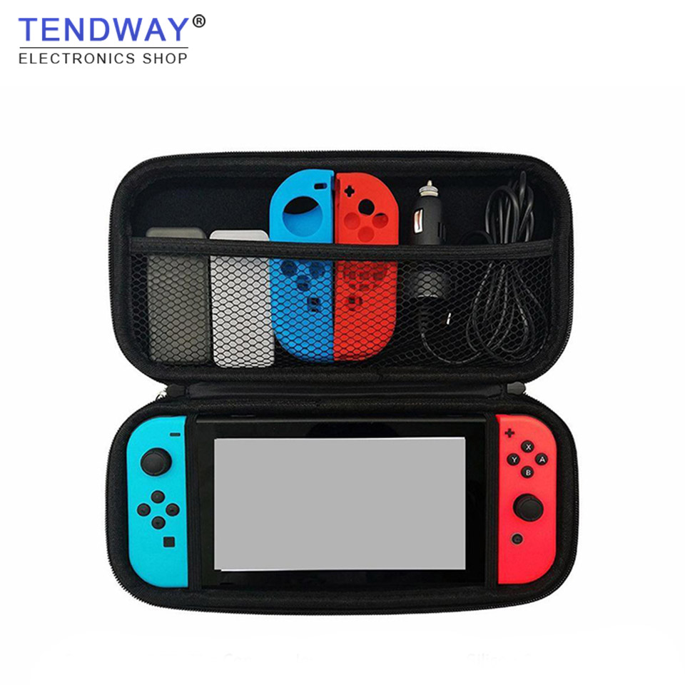 Portable Case for Nintend Switch Hard Shell PU Carrying Gaming Storage Bag Pouch for Nitendo Switch NS Console Accessories smatree n500 for switch case handbags ns carrying case storage carrying case portable travel bag for nintend switch accessories