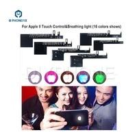 Светодиодный светящийся Логотип PHONEFIX для iPhone 6  6 S  7  7 Plus  16 видов цветов  сенсорный светодиодный логотип  Радужный Свет с инструментами для о...