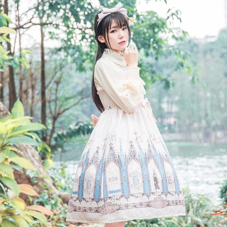 2019 Лято момичета сладка рокля Lolita - Дамски дрехи - Снимка 3