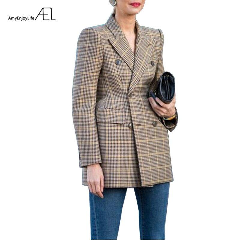 AEL kobiet zima jesień garnitur kurtka wysokiej jakości 2017 Grace kobieta płaszcz moda odzież w Marynarki od Odzież damska na  Grupa 1