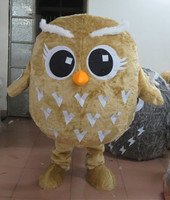 Hot sale 2015 Cartoon Character Adult lovely little yellow owl Mascot Costume fancy dress Christmas costume