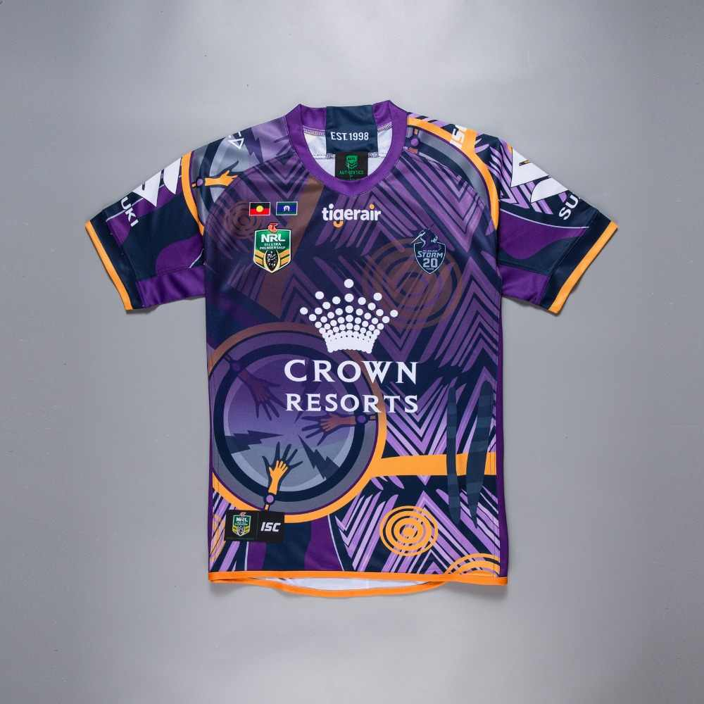e63561ae4c4 2018 2019 new NRL high quality Melbourne Storms home rugby jerseys  Commemorative Edition jerseys size S