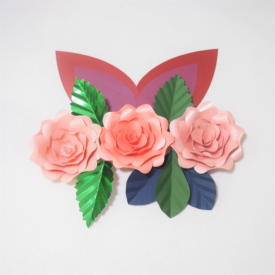 Diy Giant Paper Flowers Artificial Rose Fleurs Artificielles