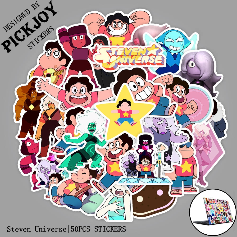 50pcs/Pack Cute Cartoon Steven Universe Funny Stickers For Luggage Laptop Pad Phone Fridge Bike Waterproof Stickers Kids Gifts