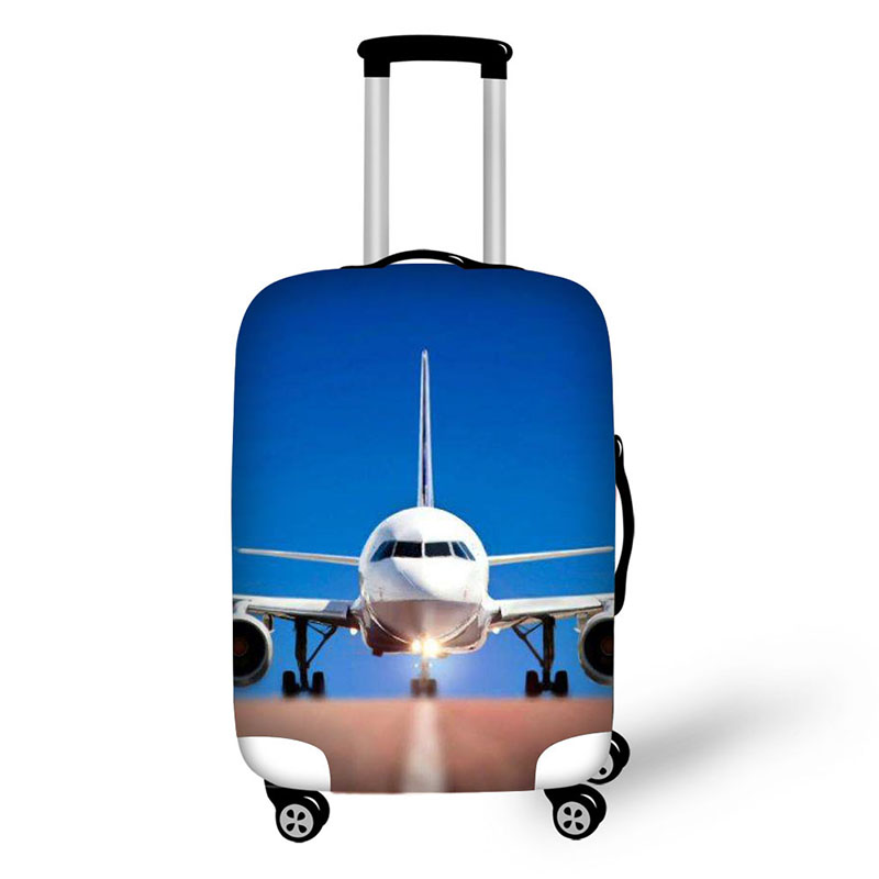 Aircraft print Elastic Thick Luggage Cover for Trunk Case Apply to 18-32 Suitcase,Suitcase Protective Cover Travel Accessor