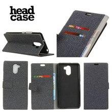 Head Case wileyfox SWIFT 2 Case Высокое Качество Раскладной Телефон Кожа Книга Стиль Кошелек Стенд PU Кожаный Чехол ткань кожи