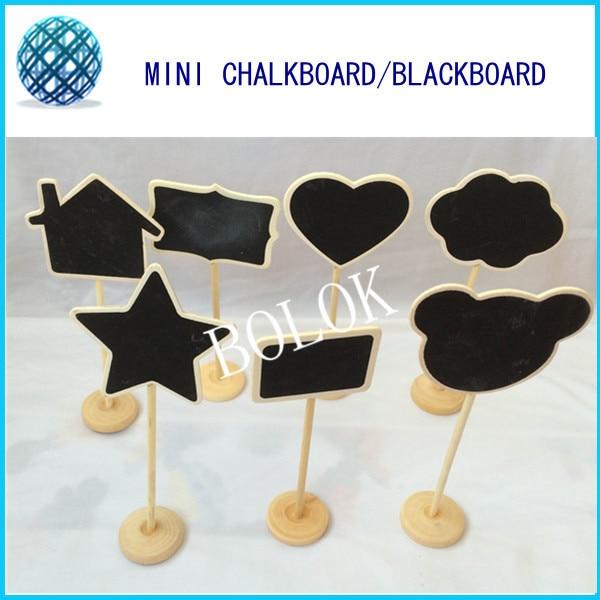 14pcs / lot Mini Chalkboard, tabla tabla s stojalom, številke - Prazniki in zabave