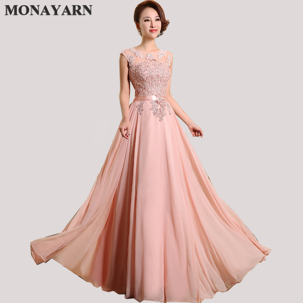 Long Bridesmaid Dresses Cheap 2018 New Arrival Sleeve Floor-Length Party Dresses Sexy Chiffon Long A-Line Prom Dresses Plus Size