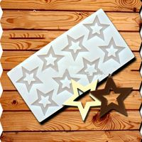 Hot DIY 3D Star Shape Silicone Mold Cake Decorating Tools Cupcake Silicone Mold Chocolate Mould Decor Muffin Pan Baking Stencil