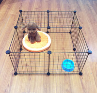 DIY Combination Pet Dog Cages Playpen Animal Crate Wire Mesh Kennel Extendable Iron Fence Cage for Puppy Rubbit Small Animal Pen