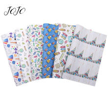 JOJO BOWS 22*30cm 1pc Faux Synthetic Leather Fabric For Craft Back To School Sheet DIY Bows Home Textile Decoration Supplies
