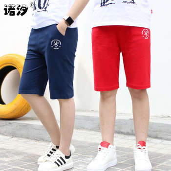 Summer boys pants 3-11T kids Knee-high shorts children letter 100% cotton cool trousers baby pants boys sport pants new style 1