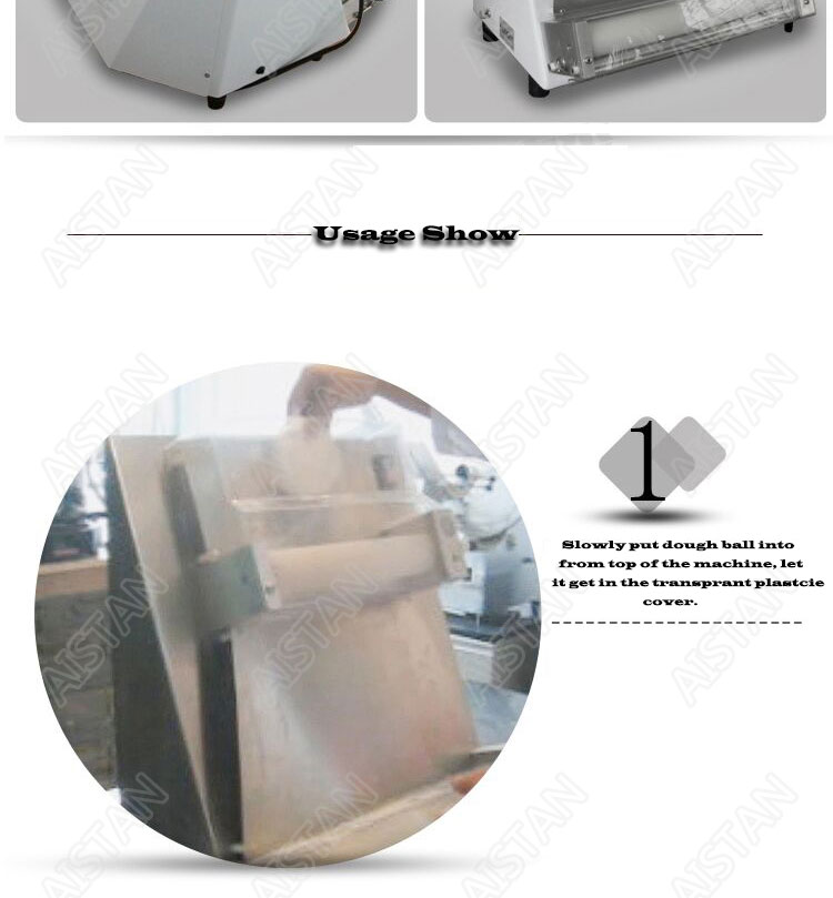 DR1V/DR1V-FP electric counter top stainless steel pizza dough roller machine pizza making machine dough sheeter 9