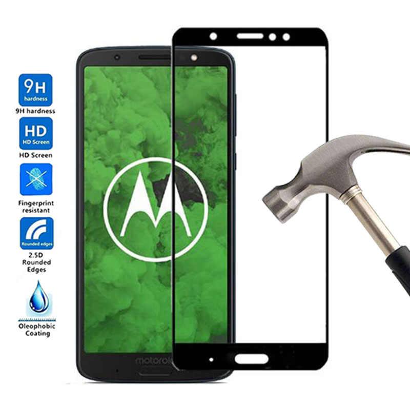 Полное покрытие 9 H премиум-класса Экран протектор для Motorola Moto G6 плюс Защитная пленка закаленное Стекло для Moto G6 G 6