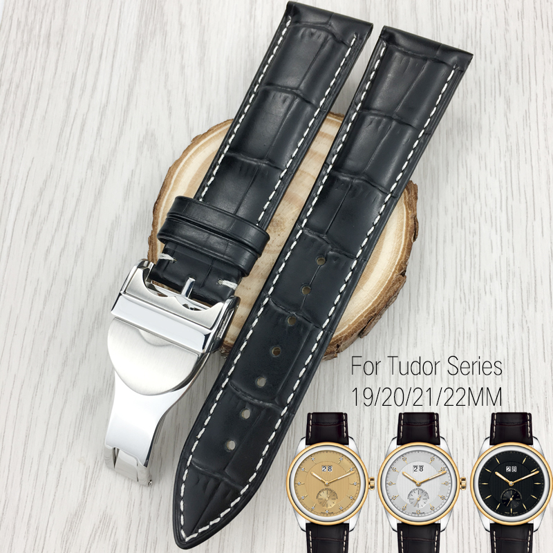 19mm 20mm 21mm 22mm Italian Cowhide Leather Watch Strap Black Brown Watchband Special for Tudor Series Watch  Black Bay PELAGOS 19mm 20mm 21mm 22mm Italian Cowhide Leather Watch Strap Black Brown Watchband Special for Tudor Series Watch  Black Bay PELAGOS