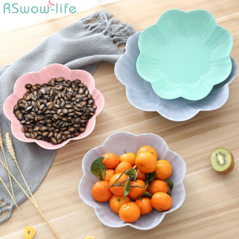 Creative European Household Fruit Pan Living Room Tea Table Plastic Candy Dry Office Snack Dish