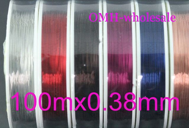 OMH wholesale 2roll 100mx0.38mm DIY production tool line mixed Stainless Steel enameled metal wire copper wire DY07