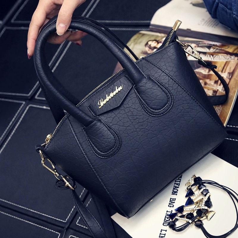 ФОТО Smiley Face Women Messenger Bags PU Leather Solid Color Zipper Designer Handbags High Quality Crossbody Bags For Women wm0138