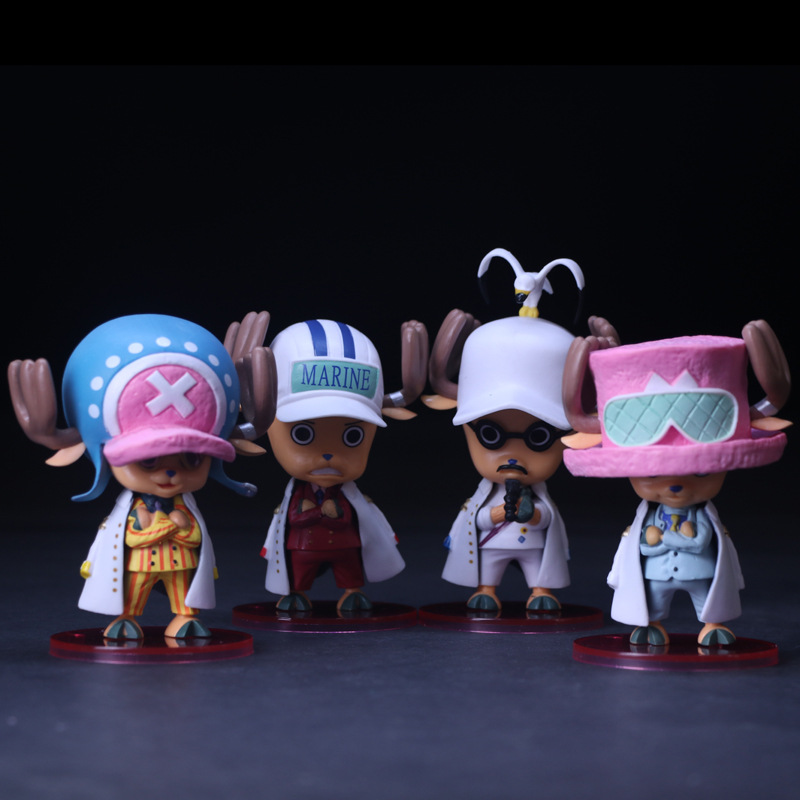 Anime One Piece Tony Tony Chopper Cosplay Marine Navy Headquarters Senior General PVC Action Figures Collection Model Toys Doll