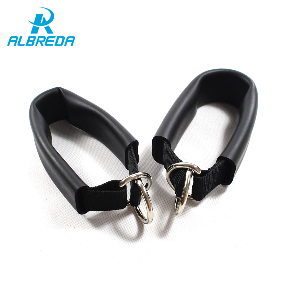 Galleria fotografica ALBREDA New 1pair Tension Pull rope accessories Rubber Latex Elastic pull Rope handle accessories Training Arms Strength Fitness