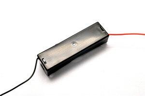 Image 3 - Nouvelle boîte de rangement en plastique 18650 porte batterie avec fils pour 18650 Batteries 3.7 V noir
