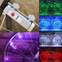 20 ledバイク自転車サイクリングリムライトledホイールライト文字列ストリップランプ