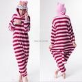 Animal dos desenhos animados Onesies Pijama Macacão Hoodies Cosplay Gato de Cheshire Adultos Cos Traje para Halloween e Carnaval