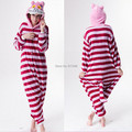 Cartoon Animal Cosplay Cheshire Cat Onesies Pajamas  Jumpsuit  Hoodies Adults Cos Costume for Halloween and Carnival