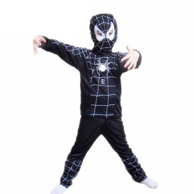 Anime Spiderman Cosplay Superhero Black Costume Carnaval Karneval Halloween Costumes For kids Carnival Baby Christmas Gift