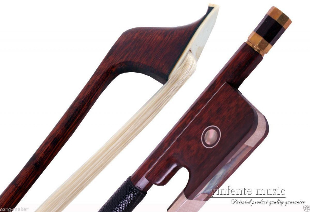 1pcs Snake Wood 4/4 Cello Bow Straight Pretty inlay High Quality #DS-58 handmade new solid maple wood brown acoustic violin violino 4 4 electric violin case bow included