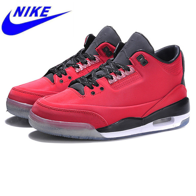big sale 85422 c2a24 Original Nike Air Jordan III Retro 213 Women s Breathable Basketball Shoes  Comfort Sneakers, Red Color