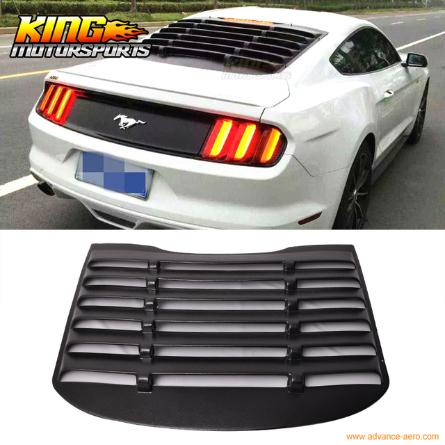 For 15 16 17 Ford Mustang Rear Window Louver Matte Black Cover ABS USA  Domestic Free Shipping Hot Selling-in ATV Parts & Accessories from  Automobiles