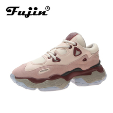 Fujin Women Flats Shoes Spring Autumn Casual Shoes Sneakers High Quality Lace Up Platform Comfortable Breathable Walking Shoes merrto women waterproof walking shoes sneakers winter breathable walking shoes for women with inner fleece high quality boost