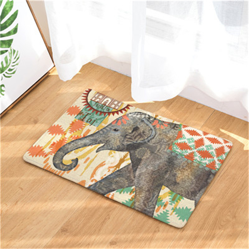 Transformative image within printable floor mats
