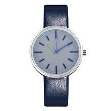 Bleu de luxe montre d'affaires véritable bracelet en cuir d'origine japon mouvement