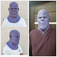 The Avengers Thanos Mask Halloween Cosplay Accessory Props Helmet Party Masks Masque Birthday Gifts For Men Boys Kids
