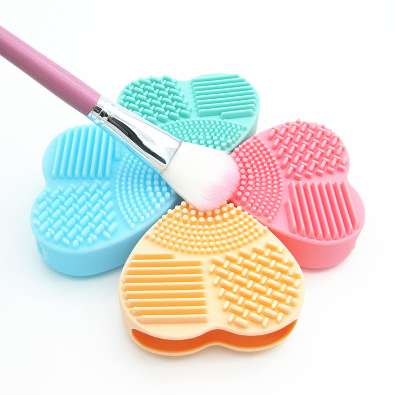 Image 5 - BBL 1 Piece Silicone Makeup Brush Cleaning Makeup Brushes Cleaner Heart Glove Cosmetic Brush Cleaning Mat Portable Washing Tools-in Eye Shadow Applicator from Beauty & Health