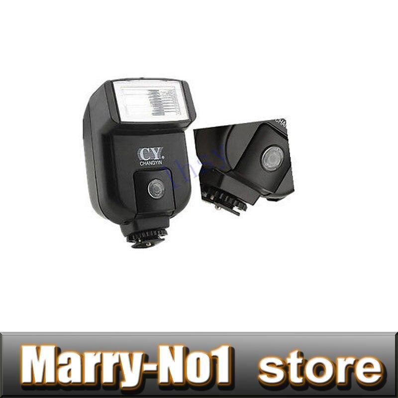 CY-20 Mini universal hot shoe flash speedlite Light Sync port for canon nikon 5D2 5D3 D40 D90 D3100 D3200 10D 20D 5D2 5D