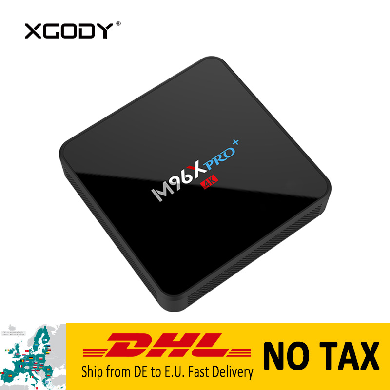 Original XGODY M96X Pro+ Set top Box Android 7.1 Nougat Amlogic S905W Quad Core 2G+16G 4K HD Media Player Streamer Smart TV Box original xiaomi mi box tv box 4k quad core 3 android 6 0 2g 8g smart hdr movie set top box multi language netflix youtube google