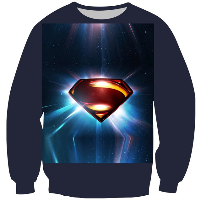 2017 crianças primavera de moda de nova 3d moletom superman galaxy imprimir quentes hoodies do velo dentro pulôver tops boy girl clothing